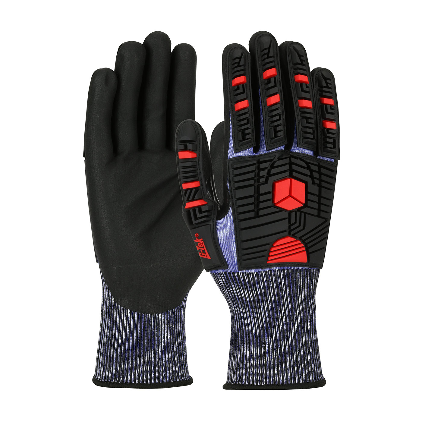 16-MP585 PIP® Seamless Knit G-Tek®  PolyKor® X7™ Blended Glove with Impact Protection and NeoFoam® Coated Palm & Fingers