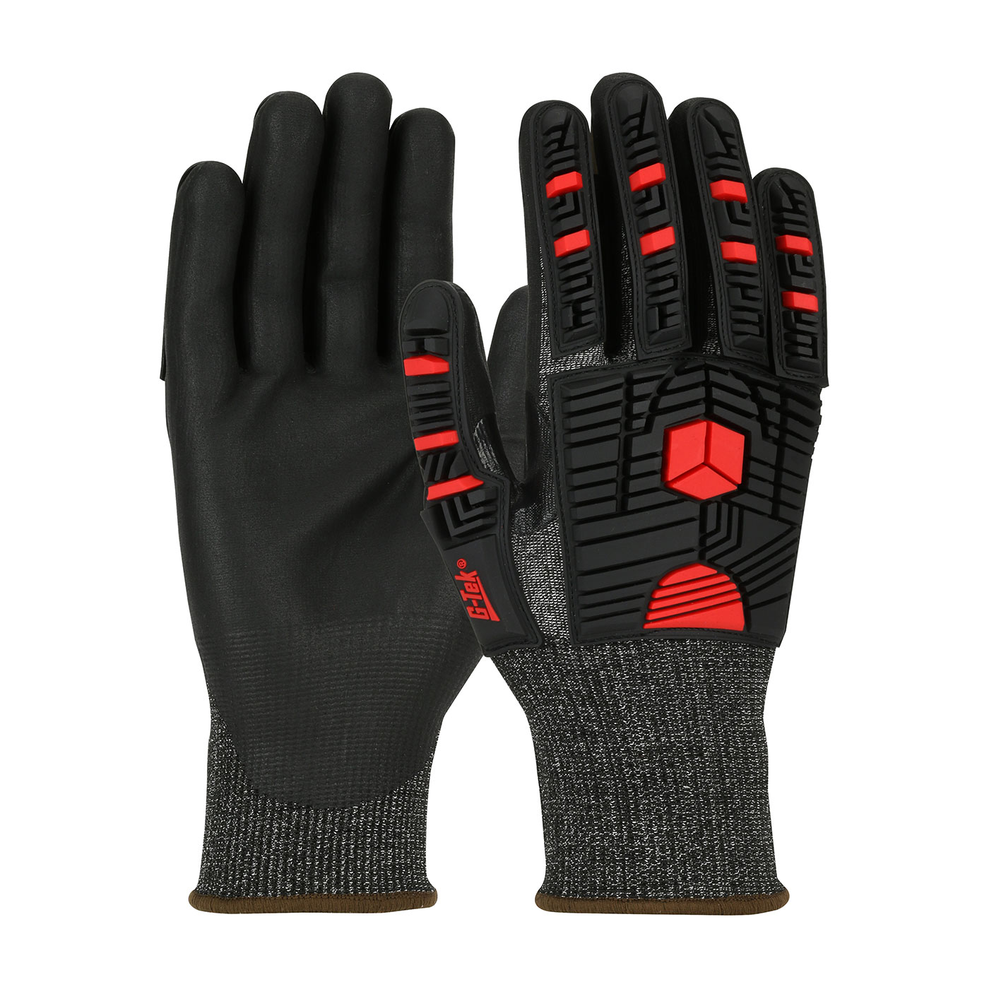 16-MP935 PIP® Seamless Knit G-Tek®  PolyKor® X7™ Blended Glove with Impact Protection and NeoFoam® Microsurface Coated Palm & Fingers