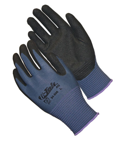 34-500 PIP® G-Tek® GP™ Seamless Knit Nylon Glove with Nitrile Coated MicroSurface Grip on Palm & Fingers - 13 Gauge
