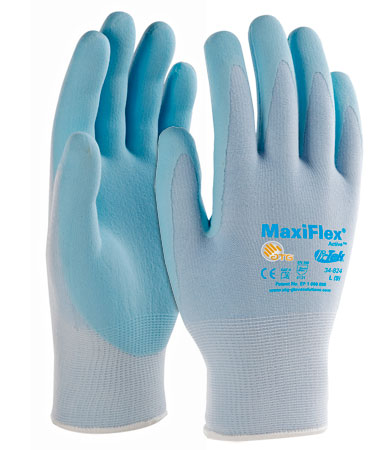 #34-824 PIP® ATG® MaxiFlex® Active Seamless Knit Nylon / Lycra Glove with Ultra Lightweight Nitrile Coated MicroFoam Grip on Palm & Fingers