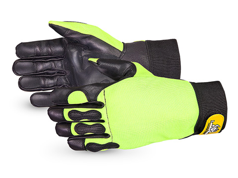 Superior Glove®  Endura® Hi-Viz Cut-Resistant Chainsaw Gloves #385CS