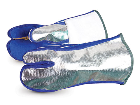 Superior Glove® Endura® Aluminized Back/One-Finger Mitt Welding Glove #401SALDL