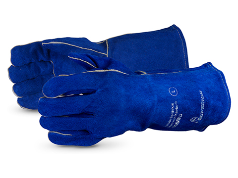 Superior® Glove Endura® Deluxe Split-Cowhide Welding Glove #505BU