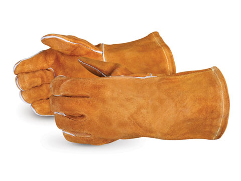#505RB Superior Glove® Endura® Deluxe Rust Brown Welding Gloves