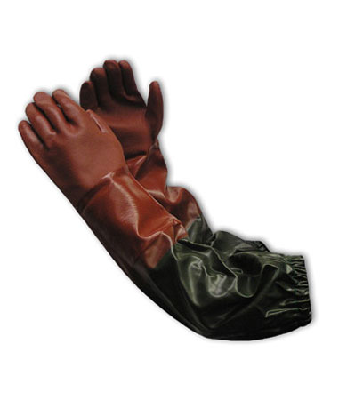58-8431R PIP® ProCoat® PVC Dipped Chemical-Reistant Gloves w/ Attached Vinyl Sleeve