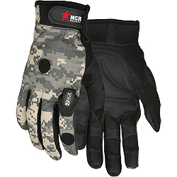 924 MCR Wounded Warrior 924 Multi-Task Camo Gloves w/ LED Lights