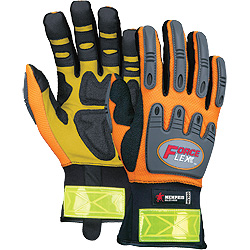 HV100 MCR Safety Hi-Vis ForceFlex Exxon Rigger Work Gloves