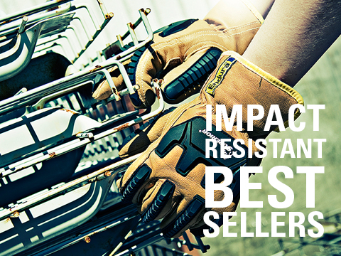 Image of Impact Resistant Leather Work Gloves