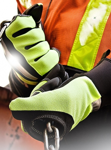 Hi-Viz Industrial Work Safety Gloves