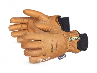 #378GOBDTK Superior® Glove Endura® Deluxe Winter Goat-Grain Leather Driver Gloves w/ Double Thinsulate