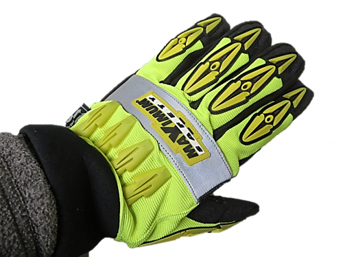 #120-4070 PIP® Maximum Safety® Mad Max™ Hi-Vis Thermo Riggers Work Gloves with Knuckle Guards