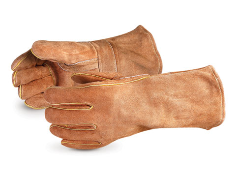 #505BS Superior Glove® Endura® Deluxe Brown Welding Glove