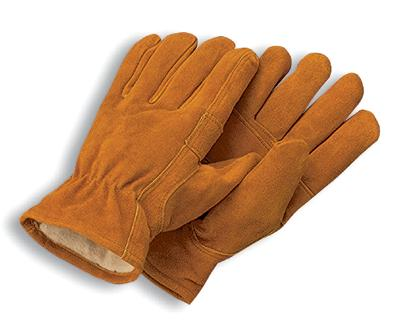 MDS Economy Split Cowhide Leather Driver's Work Gloves w/ Thinsulate™ Insulation