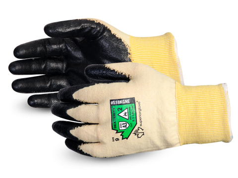#S18KGNE Superior® Glove Dexterity® Neoprene Coated 18-gauge Arc Flash Glove w/ Neoprene Palm