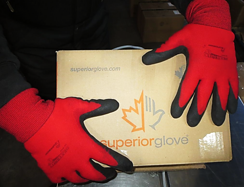 #SNTAPVC Dexterity® Winter-Lined Nylon Gloves with PVC Palm