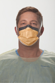 #28800 Halyard® Fluidshield® Level 3 Fog-Free Pleated Procedure Mask w/ WrapAround Visor & So Soft® Lining