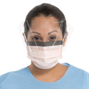 #47147 Halyard® Fluidshield® Disposable Protective Level 3 Fog-Free Procedure Mask, WrapAround Visor