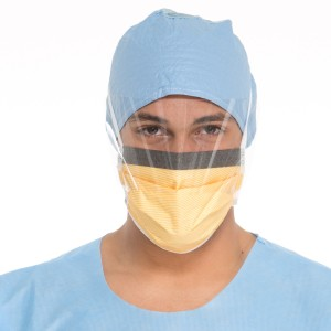 48237 Halyard® Health Disposable FluidShield® Surgical Face Masks w/ So Soft®  Lining, Visor & Foam Band