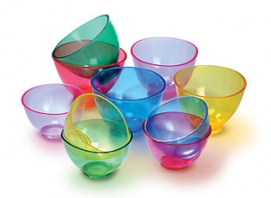 Plasdent Disposable Flowbowl Spectrum Mixing Bowls