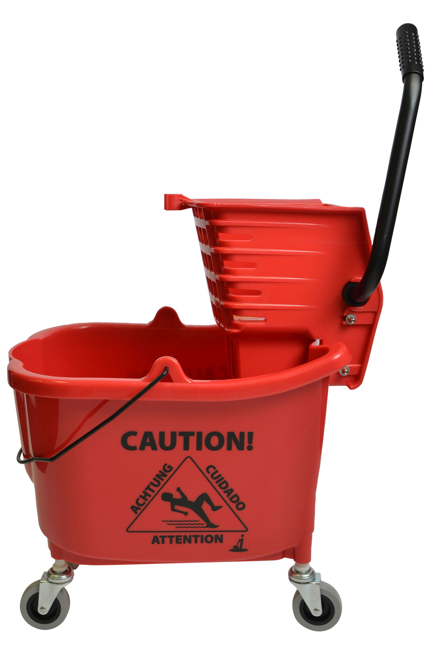 1010 Mop Bucket With Side Press Wringer Combo 35 Quart Red