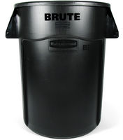 Rubbermaid® Vented Round Brute® Container- Black