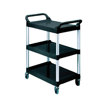 Rubbermaid® Commercial Three-Shelf Service Cart- Black