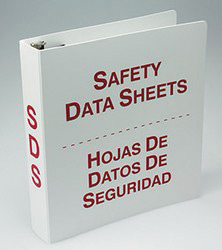 Accuform Signs® Bilingual Safety Data Sheets Binder (English/Spanish)