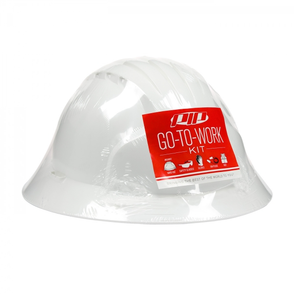 289-GTW-6141 PIP® Temporary Workers Go-To-Work Full Brim Style Hard Hat Kit