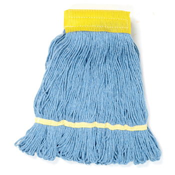 Super Loop Wet Mop Head- Blue,  Unisan™ Premium Four-Ply Super Loop Wet Mop Heads
