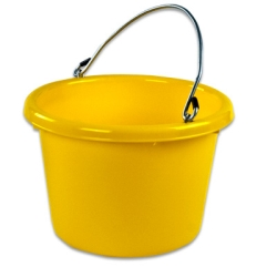 8QT Chemical & Temperature Resistant Plastic Pail with Handle