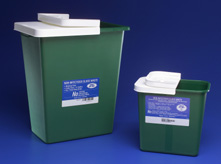 Non-Infectious Waste Green Sharps Disposal Container, 8781 Envirostar™ Green Non-Infectious Sharps Container - 8 Gallon