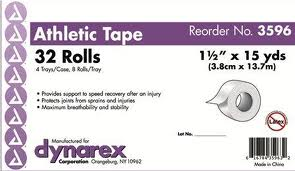 Dynarex&#173 Athletic Tape 1.5` X 15yd