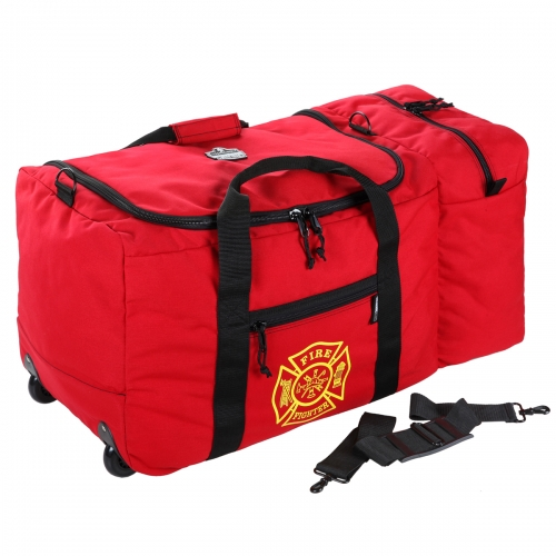 GB5005W Ergodyne® Arsenal® Wheeled Red Fire & Rescue  Gear Bag - Large