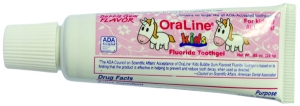 #43109 Oraline 0.85-oz  Kids Flavored ADA Accepted Fluoride Bubblegum Toothgel - 144 count