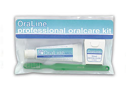 #48000 Oraline® 3-Piece Adult Preventative Kits w/ Travel Bag Includes Toothbrush, Tooth Paste & Floss