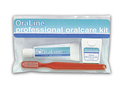 #48004 Oraline® Orthodontic Patient Kits w/ Toothbrush, Floss & Travel Bag