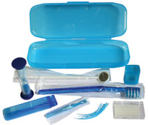 #48018 Oraline® 8 Piece Orthodontic Patient Care Kits w/ Plastic Travel Case