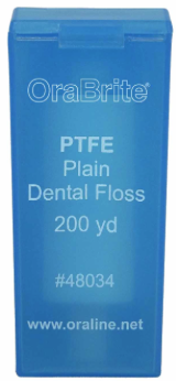 OraLine® 200 Yard Premium PTFE Plain Dental Floss #48034