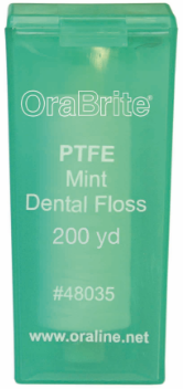 OraLine® 200 Yard Premium PTFE Mint Dental Floss #48035