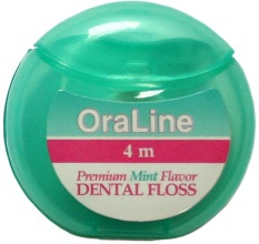 #48037 OraLine® 4m Premium Mint Waxed PTFE Dental Floss