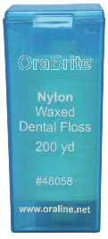 #48058 OraLine® 200 Yard Waxed Nylon Dental Floss