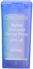 #48059 OraLine® 200 Yard Unwaxed Nylon Dental Floss