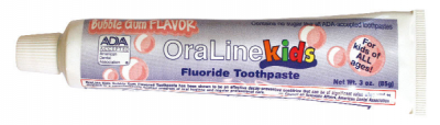 #42115 Oraline Child's Fluoride Bubblegum Flavored ADA Accepted 3-oz Toothpaste