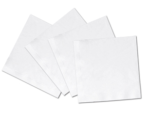 Prime Source White 1-Ply 4-7/10` Square Beverage Napkins