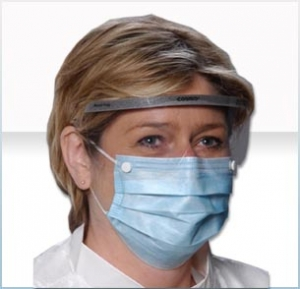 5194  AlphaProTech® Critical Cover® Combo® Disposable Facemasks w/ Snaps & Protective Shield