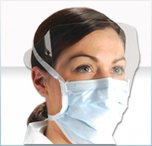 BL8101S AlphaProTech® Critical Cover® Disposable ShieldMate® Mask w/ Shield & Anti-Fog Foam