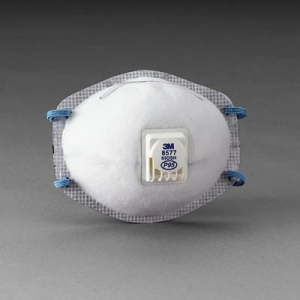 3M™ 8577 P95 Particulate Disposable Respirator With Cool Flow™ Exhalation Valve And M-Noseclip