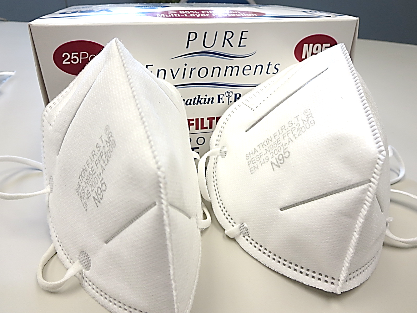 Shatkin First #SFN95H Pure Environments N95 Disposable Face Mask Respirators