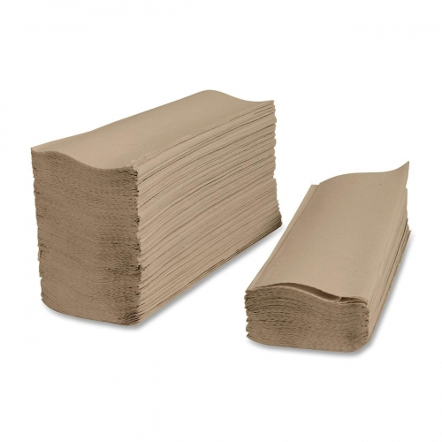 Eco-Logo Certified Green Source Multi-Fold Paper Towels. Natural color.