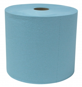 10252 Sellars® Blue Disposable Heavy-Weight Recycled Jumbo Roll Shop Towels